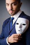 Man with black. Mask in studio Royalty Free Stock Photo
