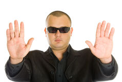 Man in black Royalty Free Stock Photography