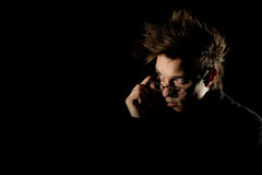 Man on the black background Stock Photography