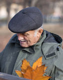 Man with a black beret on his head. Stock Image