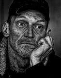 Man in Black Cap Grayscale Photo Royalty Free Stock Images