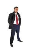 Man in black coat. Stock Photos