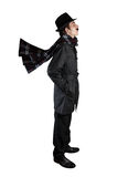 Man in black costume Stock Photography