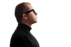 Man in black dolce vita Stock Image