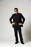 Man in black formal wear Stock Image