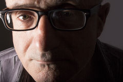 Man with black glasses Stock Photo