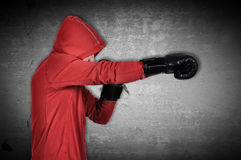 Man in black gloves Royalty Free Stock Photography