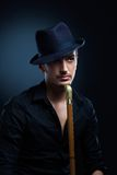 Man in a black hat Royalty Free Stock Images