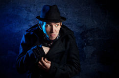 Man in black hat Royalty Free Stock Photography