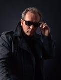 Man in black jacket Royalty Free Stock Photos