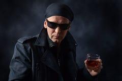 Man in black jacket Stock Photo