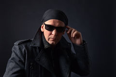 Man in black jacket Stock Photos