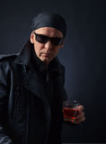 Man in black jacket Royalty Free Stock Photography