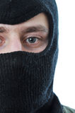 Man in black mask isolated Royalty Free Stock Photos