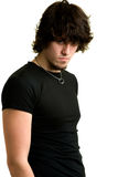 Man in black shirt Stock Photos