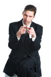 The man in a black suit Royalty Free Stock Photography