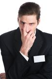 The man in a black suit Stock Images