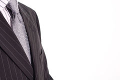 Man in black suit. Elegenat businessman stay in black suit royalty free stock image