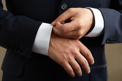 Man in black suit Royalty Free Stock Photo