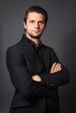 Man in Black Suit Royalty Free Stock Image