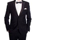 Man in black  suit Royalty Free Stock Photos