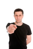 Man in the black T-shirt Stock Photography