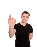 Man in black t-shirt Stock Photography