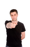 Man in the black T-shirt Royalty Free Stock Photography