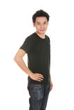 Man with black t-shirt Stock Photography