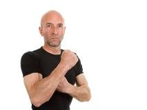 Man in black teeshirt Royalty Free Stock Photo