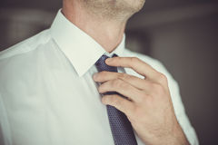 Man with black tie Royalty Free Stock Photo