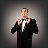 Man in Black Tuxedo Royalty Free Stock Photos