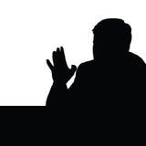 Man black vector art silhouette Royalty Free Stock Image