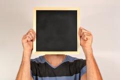 Man with blackboard Stock Photos