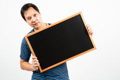 Man with blackboard Stock Photography