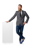 Man with blank banner Royalty Free Stock Photography