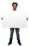 Man with blank billboard Stock Image