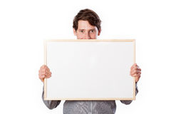 Man with blank board Royalty Free Stock Photography