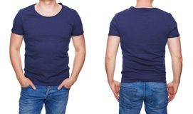 Dark Blue Tshirt Template Stock Photos Download 190