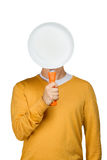 Man with a blank pan Royalty Free Stock Photography