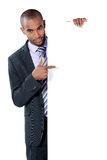 Man with blank panel Royalty Free Stock Photography