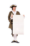 Man with the blank paper in hands Royalty Free Stock Photos