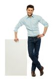 Man with blank poster Stock Photography