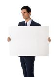Man with blank sign Royalty Free Stock Photos