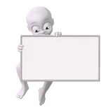 Man with a blank sign Stock Photo