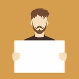 Man with blank sign Stock Image