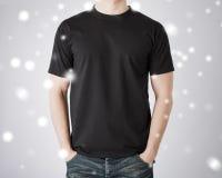 Man in blank t-shirt Stock Photo