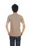 Man with blank t-shirt Royalty Free Stock Photo