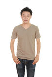 Man with blank t-shirt Royalty Free Stock Images