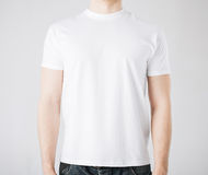 Man in blank t-shirt Royalty Free Stock Image